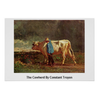 The Cowherd By Constant Troyon Poster
