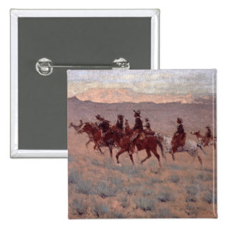 The Cowpunchers (w/c on paper) 2 Inch Square Button