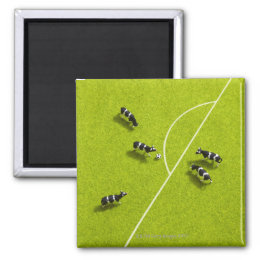 The cows playing soccer magnet