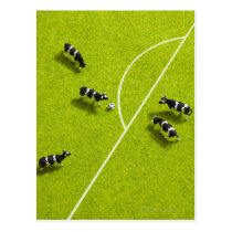 The cows playing soccer postcard