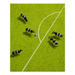 The cows playing soccer poster