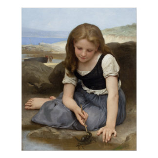 The Crab by William-Adolphe Bouguereau Poster