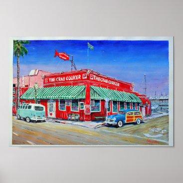 Beach Themed The Crab Cooker Newport Beach Poster
