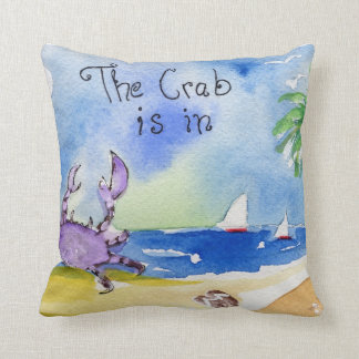 The Crab is In Throw Pillows