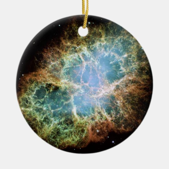 The Crab Nebula Ceramic Ornament