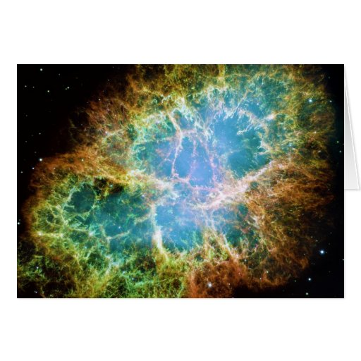 The Crab Nebula from the Hubble Space Telescope Greeting Card
