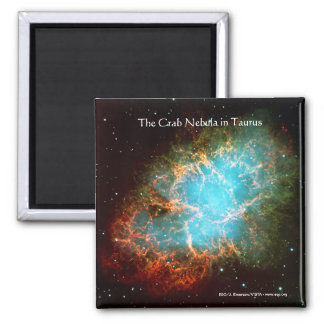 The Crab Nebula in Taurus 2 Inch Square Magnet