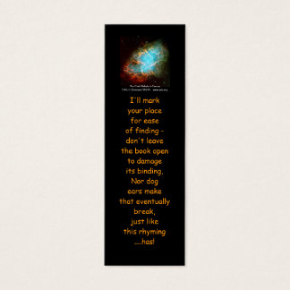 The Crab Nebula in Taurus - bookmarks Mini Business Card