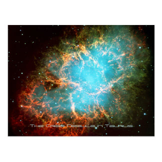 The Crab Nebula in Taurus - Breathtaking Universe Postcard