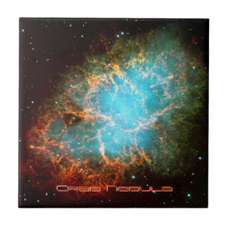 The Crab Nebula in Taurus Ceramic Tile