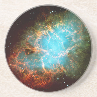 The Crab Nebula in Taurus Drink Coaster