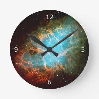The Crab Nebula in Taurus Round Clock