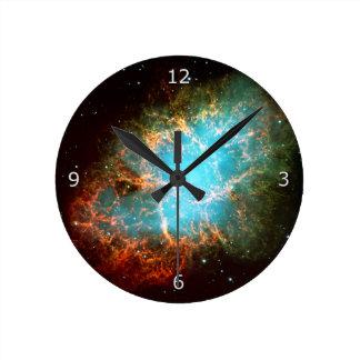 The Crab Nebula in Taurus Round Clock