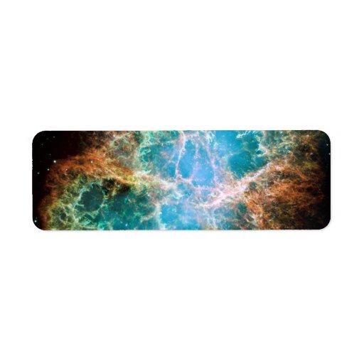 The Crab Nebula Custom Return Address Labels
