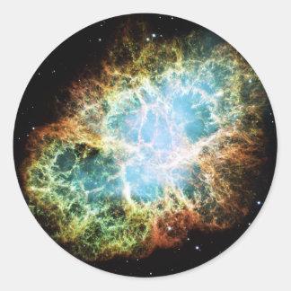 The Crab Nebula M1 NGC 1952 Taurus A Classic Round Sticker