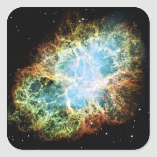 The Crab Nebula M1 NGC 1952 Taurus A Square Sticker