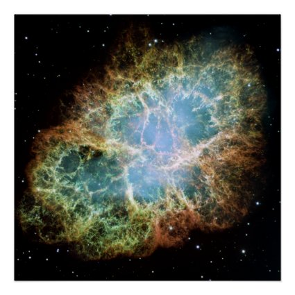 The Crab Nebula. Poster