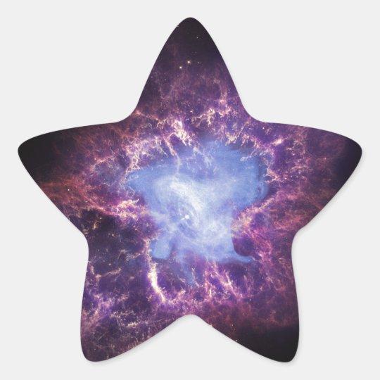 The Crab Nebula Star Sticker
