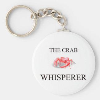 The Crab Whisperer Basic Round Button Keychain