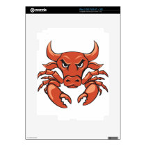 The crabull decal for iPad 2