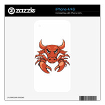 The crabull decal for iPhone 4