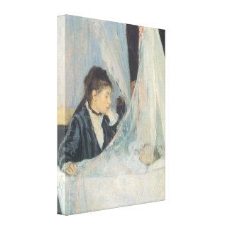 The Cradle, Berthe Morisot, Vintage Impressionism Gallery Wrap Canvas