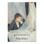 The Cradle by Berthe Morisot, Elegant Baby Shower Custom Announcements