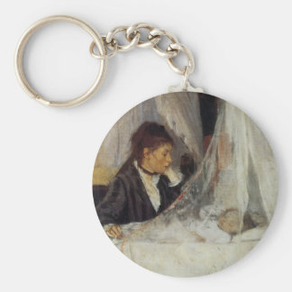 The Cradle by Berthe Morisot Keychain