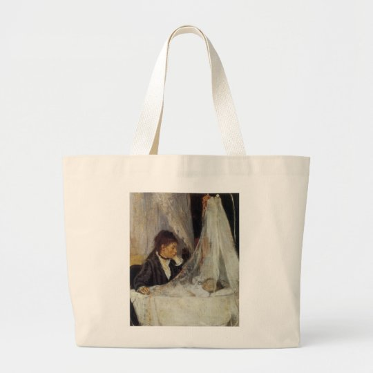 The Cradle by Berthe Morisot Large Tote Bag