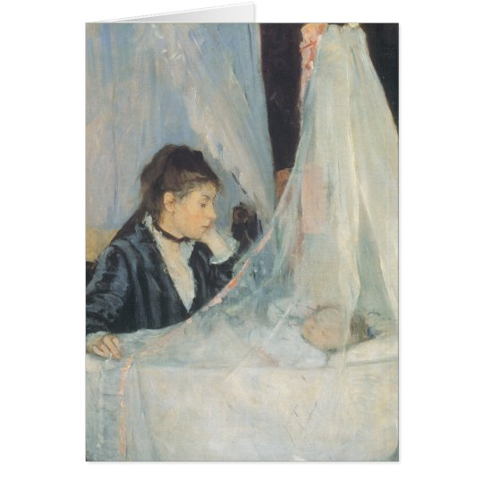 The Cradle by Morisot Vintage Welcome to the World Card
