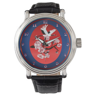 The Crane and Cherry Blossoms Watches