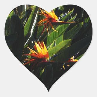 The Crane Flower Heart Stickers
