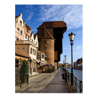 The Crane in the Old Town of Gdansk Post Cards