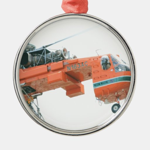 The Crane Round Metal Christmas Ornament