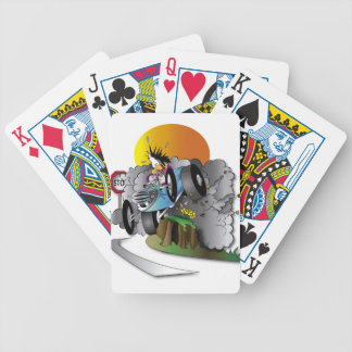 the crash bicycle playing cards