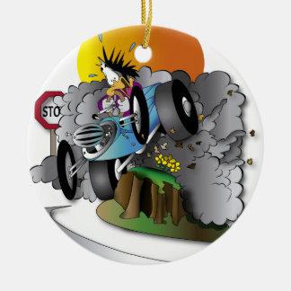the crash ceramic ornament