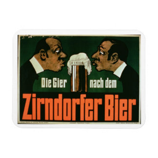 'The Craving for the Zirndurfer Beer' (colour lith Rectangular Photo Magnet