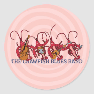 The Crawfish Blues Band Classic Round Sticker