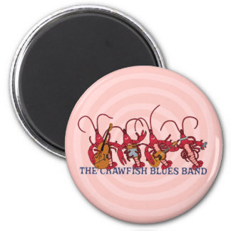The Crawfish Blues Band 2 Inch Round Magnet
