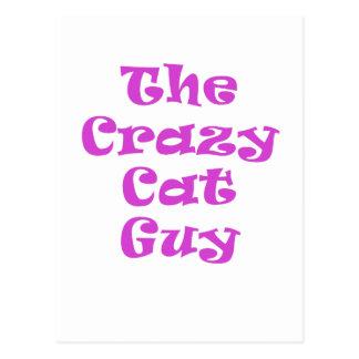 The Crazy Cat Guy Postcard