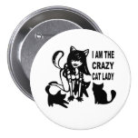 The Crazy Cat Lady Button