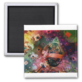 The Crazy Man's Vision 2 Inch Square Magnet