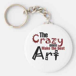 The crazy ones make the best art basic round button keychain
