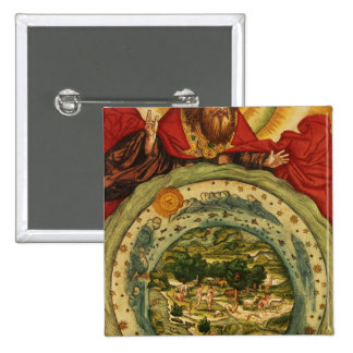 The Creation, from the Luther Bible, c.1530 2 Inch Square Button