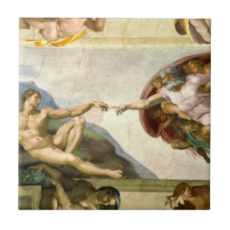 The Creation of Adam by Michelangelo Ceramic Tile