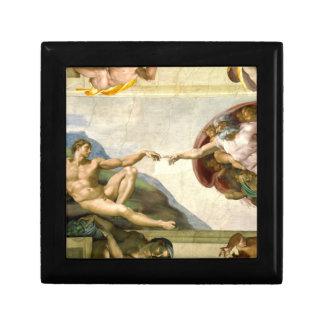 The Creation of Adam by Michelangelo Fine Art Jewelry Box