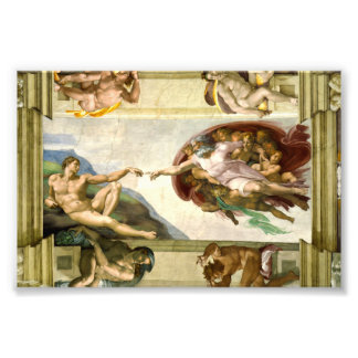 The Creation of Adam by Michelangelo Fine Art Photo Print