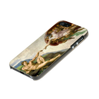 The Creation of Adam by Michelangelo Metallic Phone Case For iPhone SE/5/5s
