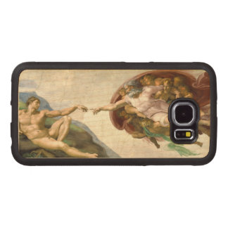The Creation of Adam by Michelangelo Wood Phone Case