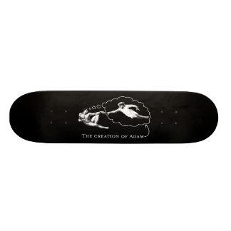 The Creation of Adam (god) - Da Vinci Skateboard